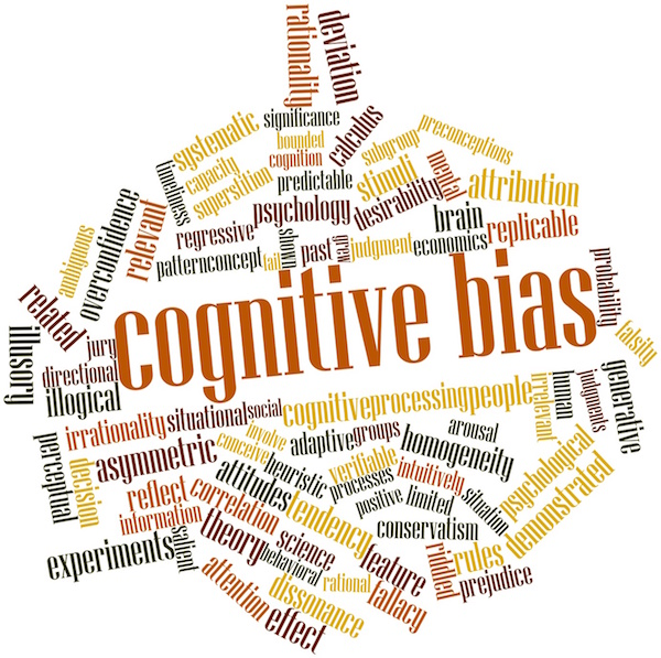 Word cloud for Cognitive bias