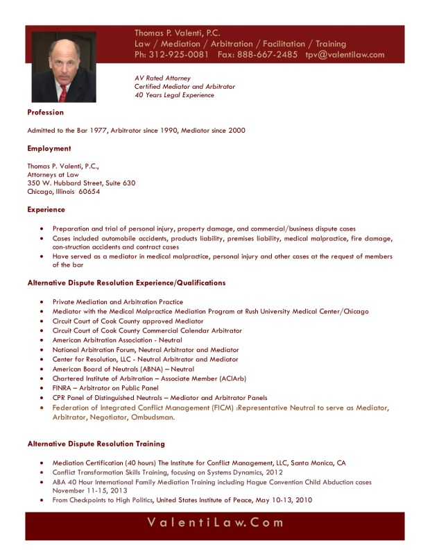 TPV Resume September 2019